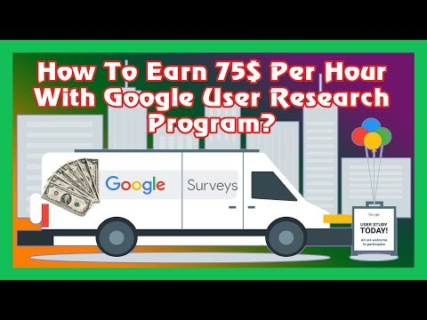 How To Earn $75 Per Hour With Google User Research Program |Online Work At Home|