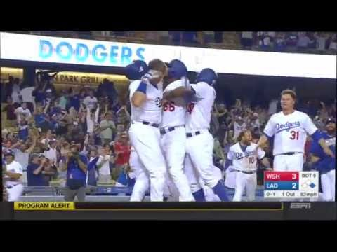 Dodgers crazy walk-off win over the Nationals