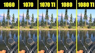Far Cry 5 1080 TI Vs 1080 Vs 1070 TI Vs 1070 Vs 1060 8700K Frame Rate Comparison