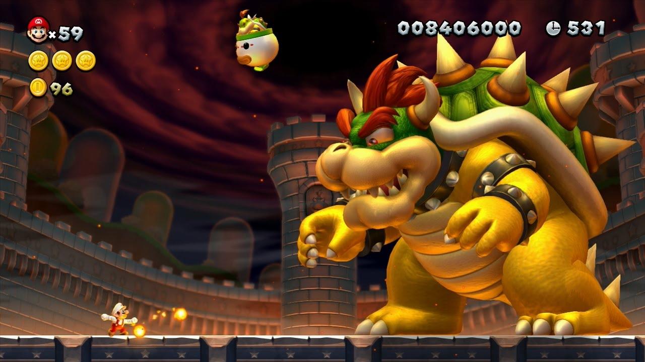 New Super Mario Bros U All Bosses Youtube