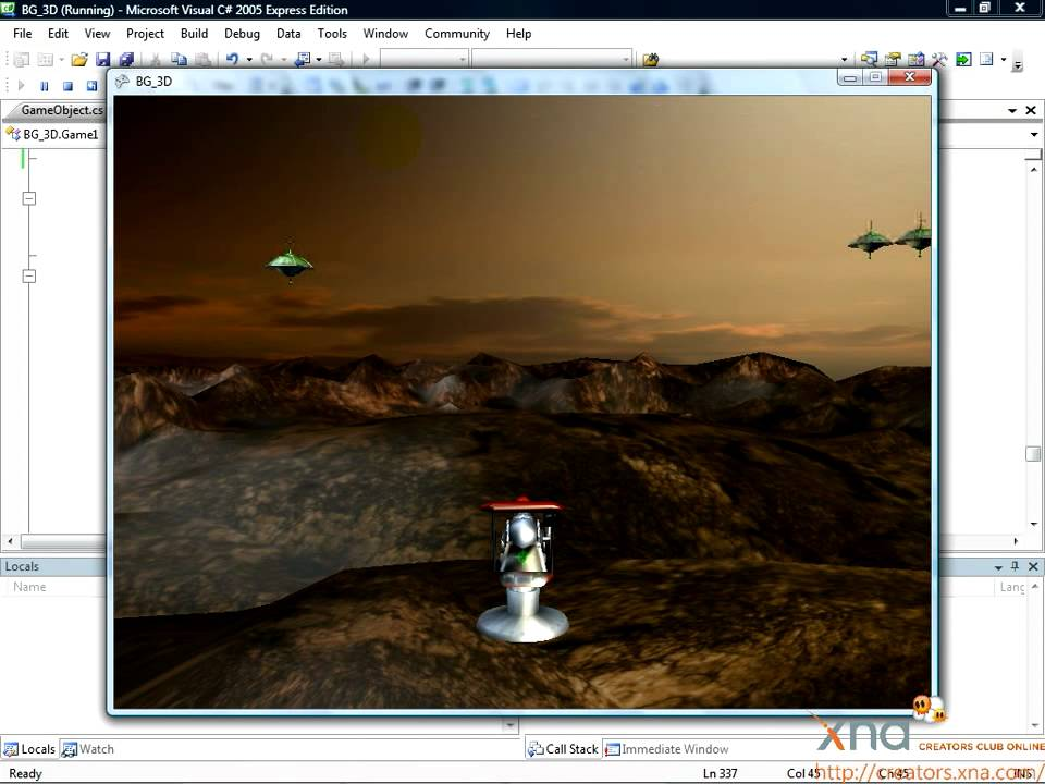 Xna 3d game development by example tutorial: mixing 2d and 3d.