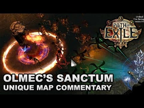 Path of Exile: OLMEC'S SANCTUM, level 74 Unique Maze Map Commentary