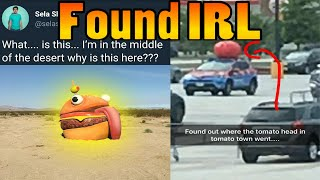 Fortnite is Teleporting Stuff in REAL LIFE!!! Huge Easter Egg!! Durr Burger and Tomato Head Found?
