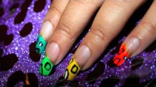 Leopard Neon Rainbow Nail Tips- Quick & Easy Thumbnail