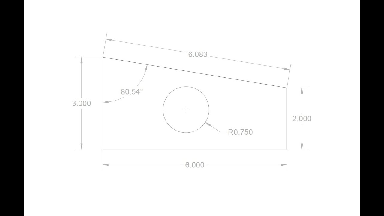 Autocad 2015 basic 2d drawing youtube Simple 2d cad