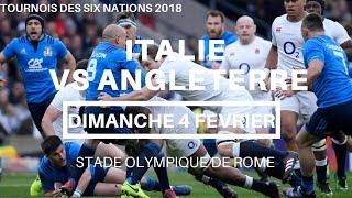 Italie - Angleterre / Tournois des Six Nations 2018