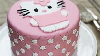 Cake Design ép. 3 : Gâteau Hello Kitty trop choux garni au nutella