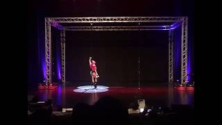 "International Pole Art Festival 2018 | Miss Pompadour ""Wolf & I"""