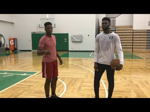 Playing Boston Celtics Jaylen Brown 1 on 1 *must watch*