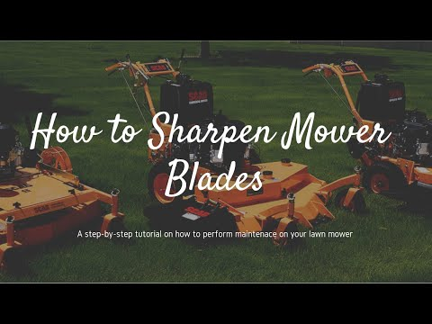 How to Sharpen Lawn Mower Blades - How to Clean a Lawn Mower Deck