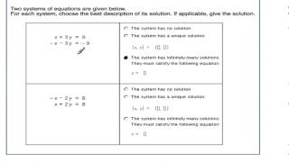 Solve a an inconsistent or consistent dependent system (module 6)