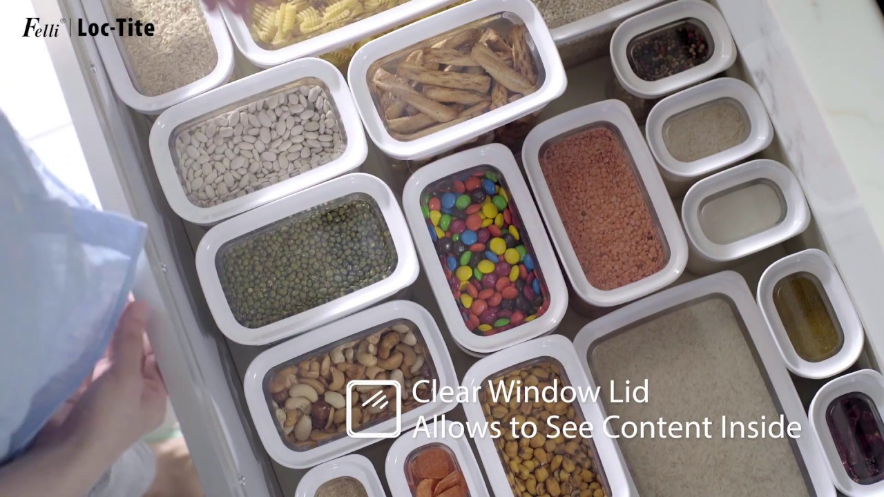 felli loc tite storage container youtube. Black Bedroom Furniture Sets. Home Design Ideas