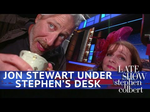 Jon Stewart:  From Below Stephens Desk