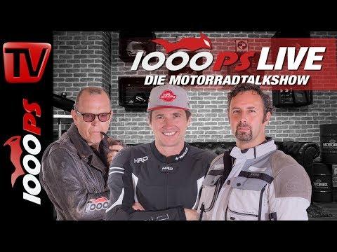 1000PS Live - Die Motorradtalkshow - Crash,  KTM 790 Adventure R, Tests und Treffen