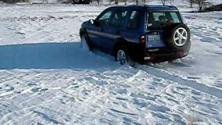 2003 Land Rover Freelander in the snow.