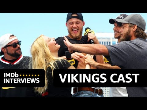 "Vikings Cast Play ""Whose Beard Is It?"" 