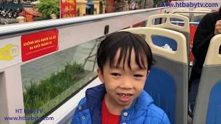 Xe Buýt 2 Tầng Hà Nội 🚌 Double Decker Bus Ha Noi 🚌 Wheels On The Bus   HT BabyTV ✔︎