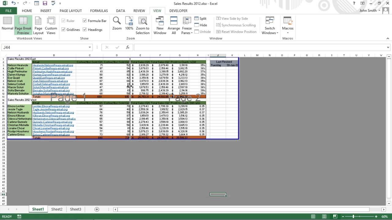 Solve Page Break Problems in Excel 2013 For Dummies