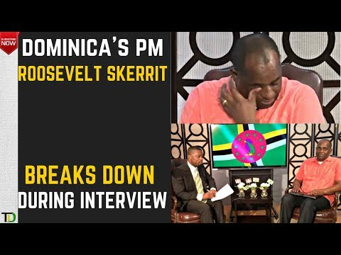 Dominica PM Roosevelt Skerrit CRIES OPENLY for his Country in Interview on MARIA'S Destruction