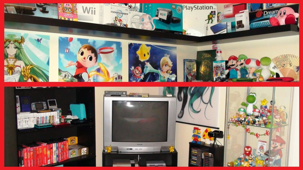 tour of my nintendo gaming bedroom 2015 youtube 15 awesome gaming room ideas xbox one uk