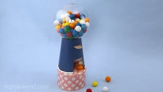 How to Make a Mini Gumball Machine   Sophie's World