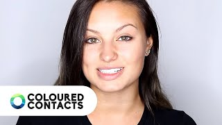 Coloured Contacts Tutorial with Makeup Madhouse