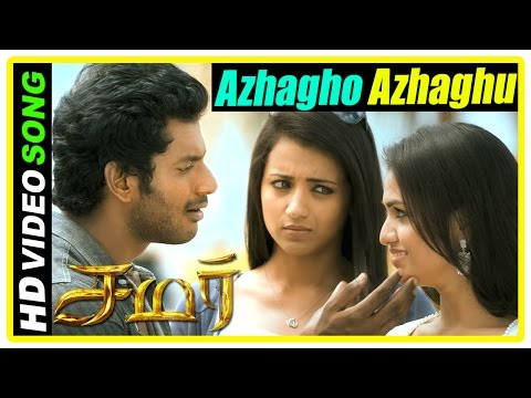 Samar Tamil Movie Scenes | Azhagho Azhaghu Song | Vishal tells Trisha about Sunaina | Yuvan Shakar