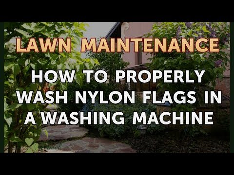 How to Properly Wash Nylon Flags in a Washing Machine