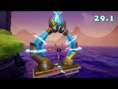 Spyro: Ripto's Rage - Ocean Speedway skillpoint - Under 1:10 (1:04:5)