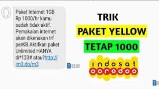 Paket Internet Indosat 1Gb hanya 1000 rupiah!!! terbaru 2020