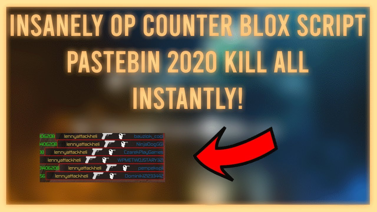 Kill All Script Roblox Pastebin 2020