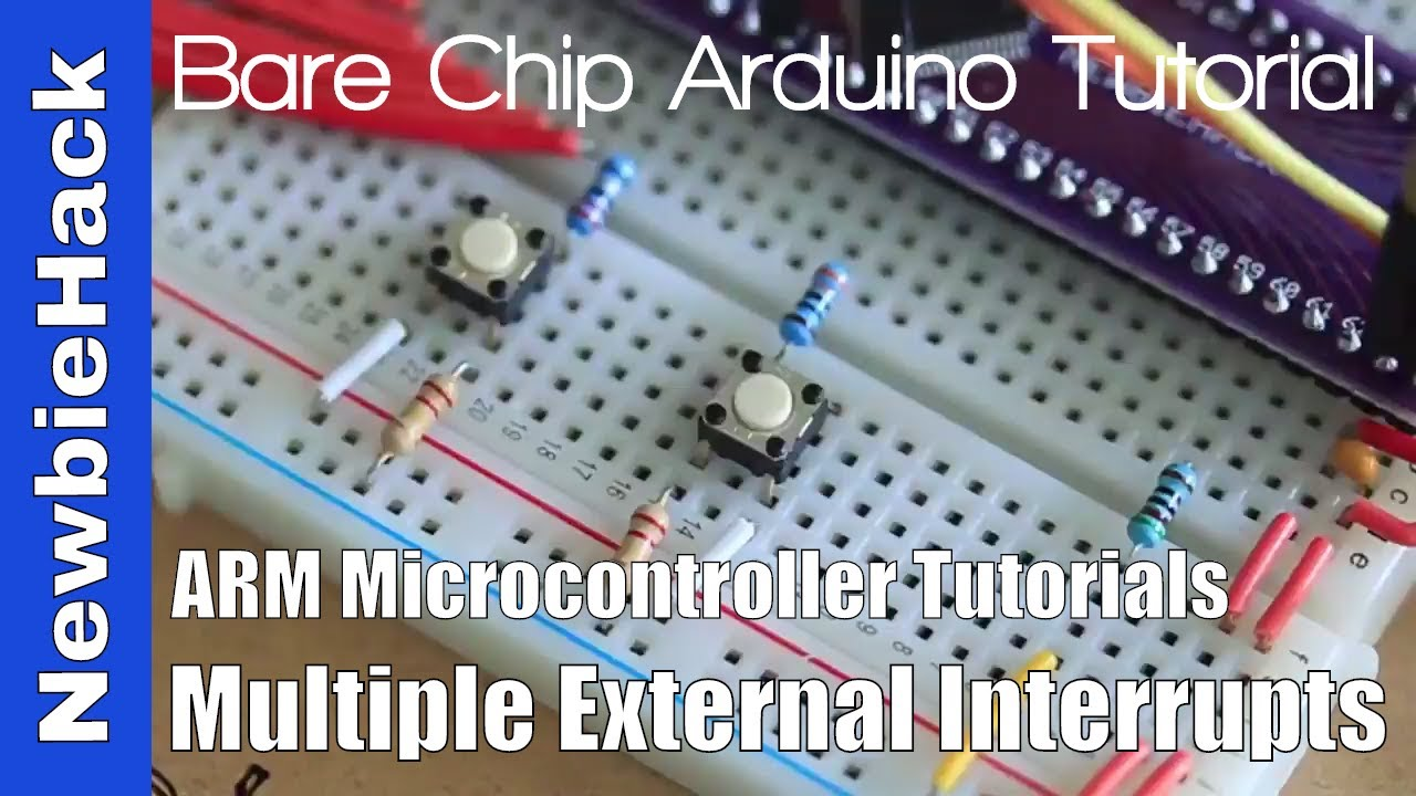 55  How to Make Multiple Pin External Interrupts (2 pins) - ARM STM32  Microcontroller Tutorial