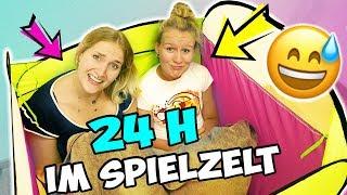 24 STUNDEN IM SPIELZELT CHALLENGE - Nina VS Kathi - Wer hält es im 1 Meter Kinderzelt länger aus?