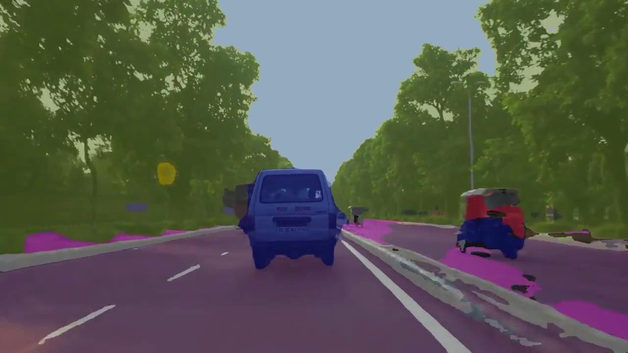 road scene segmentation with Unet in keras - A drive in New Delhi