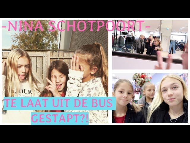 TE LAAT UIT DE BUS GESTAPT ?! VLOG #16 🌵-NINA SCHOTPOORT