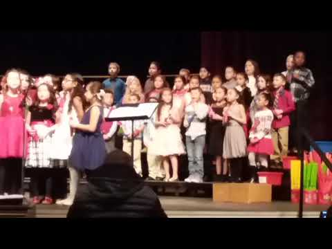 """Banta Elementary school 2017 Winter concert-2nd grade sings """"A song of peace."""""""