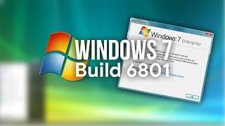Exploring Windows 7 Build 6801!