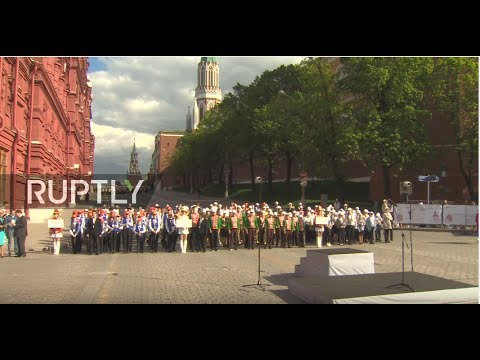 LIVE: Russian children's wind orchestra performs in Moscow