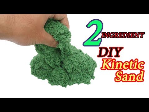 2 INGREDIENT!!!! DIY Kinetic Sand I REAL!!!!!!!!!3 WAYS NEW