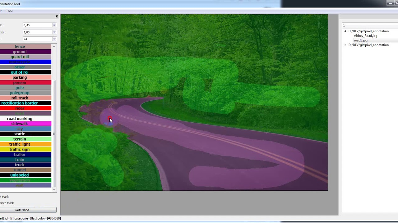 Image Pixel Annotation Tool