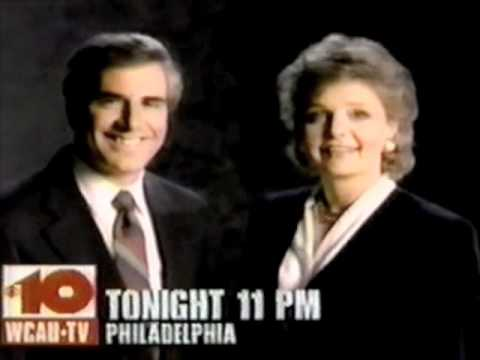 "WCAU ""10 News"" promo with Larry Kane and Diane Allen - 1990"