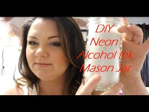 DIY Neon Alcohol Ink Mason Jar Part 1