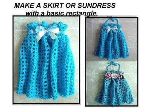 Crochet girls blue skirt or sundress crochet pattern easy crochet girls blue skirt or sundress crochet pattern easy rectangle crochet how to diy youtube dt1010fo
