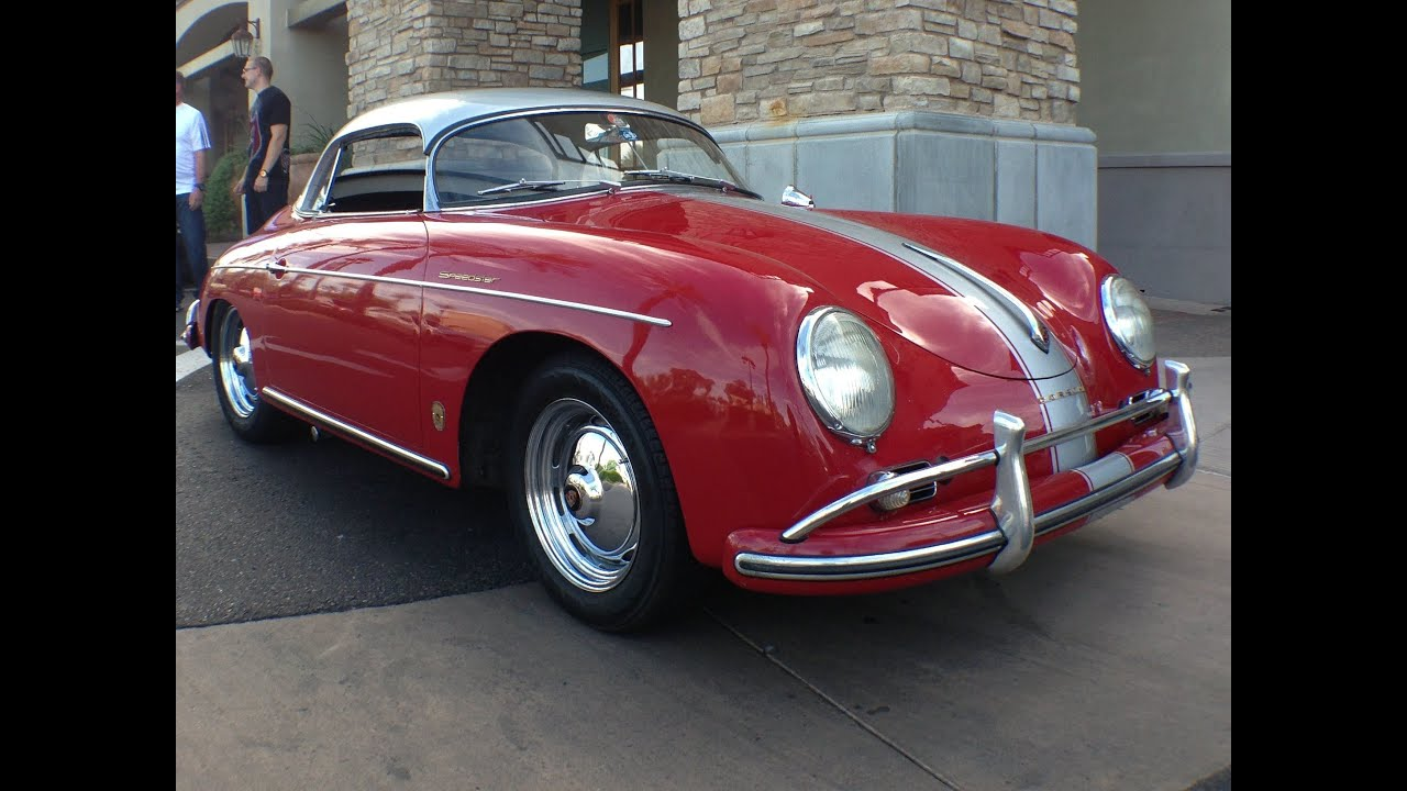 1958 Porsche Speedster Hardtop Convertible At Cars And Coffee Scottsdale Youtube