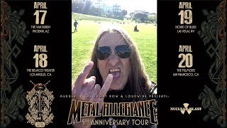METAL ALLEGIANCE - 5th Anniversary Tour Tom Hunting Invite (OFFICIAL TRAILER)