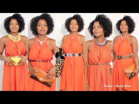 Styling Tipps: 15 Ways To Accessorize An Orange Dress / Orangenes Kleid ⎮ Pauline Walter