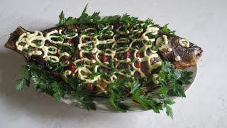 Фаршированный карп в духовке. Stuffed carp in the oven.