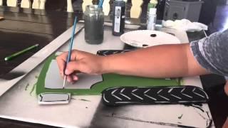 Tractor Door Hanger Painting Time-lapse
