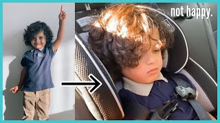 Mateo's FIRST day of SCHOOL!! *did not go as planned...*