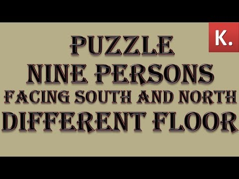 PUZZLE BASED ON 9 PERSON | FACING  NORTH AND SOUTH | DIFF FLOOR || SBI 2018 ||